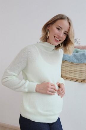 Джемпер для беременных и кормящих To be 4199 белый