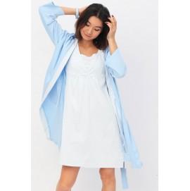 Халат + ночная рубашка для беременных и кормящих Yammy Mammy арт. 111.02.44