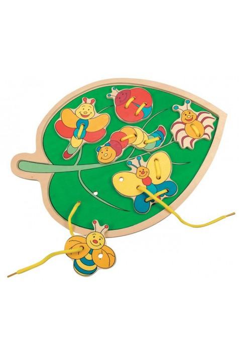 Прошивка-листик с насекомыми