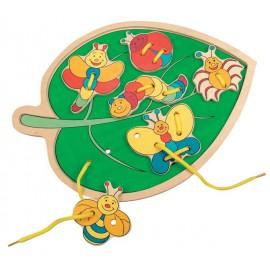 Прошивка-листик Bino с насекомыми