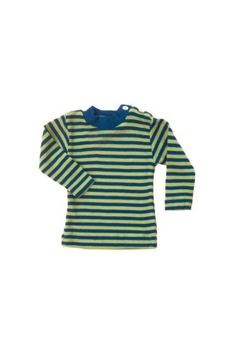 Термокофта с длинным рукавом и пуговицами на плече Engel шелк/шерсть зеленая