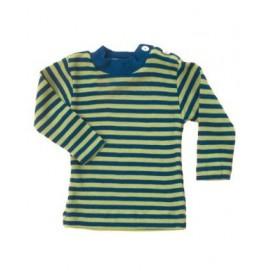 Термокофта з довгим рукавом і гудзиками на плечі Engel шовк/вовна зелена