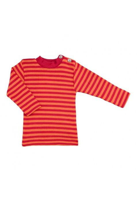 Термокофта с длинным рукавом и пуговицами на плече Engel шелк/шерсть красная