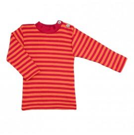 Термокофта з довгим рукавом і гудзиками на плечі Engel шовк/вовна червона