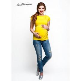 Футболка для беременных и кормящих, Urban (желтый хлопок)