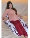 Подушка для беременных Комфорт цвет Фиолетовый орнамент