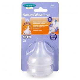 Соска для естественного кормления Lansinoh Natural Wave медленный поток S 2 шт.