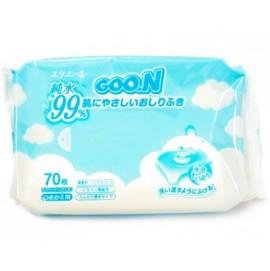 Детские  влажные салфетки Goon в мягкой упаковке 70 шт