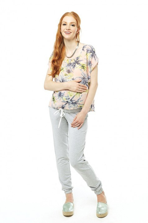 Брюки-джоггеры для беременных - Меланж