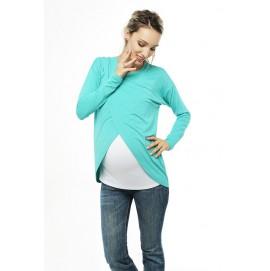 Туника с запахом для беременных и кормящих Love&Carry Ментоловая